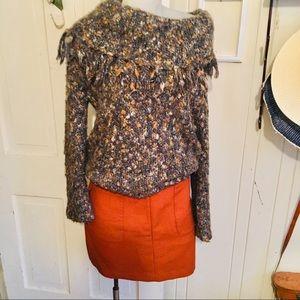H&M Skirts - H&M Mini Skirt -8 orange poly blend, runs small